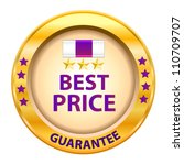 best price guarantee logo.... | Shutterstock .eps vector #110709707