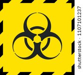 caution biohazard sign ... | Shutterstock .eps vector #1107101237