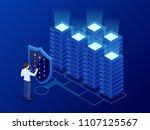 isometric personal data... | Shutterstock .eps vector #1107125567