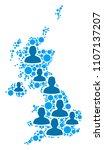 population united kingdom map....   Shutterstock .eps vector #1107137207