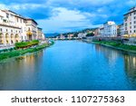 arno river ponte alle grazie... | Shutterstock . vector #1107275363