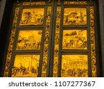 gates of paradise ghiberti... | Shutterstock . vector #1107277367