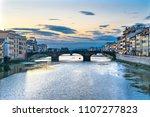 arno river ponte santa trinita... | Shutterstock . vector #1107277823
