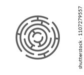 maze icon vector in trendy flat ... | Shutterstock .eps vector #1107279557