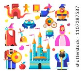 fairy tale characters and... | Shutterstock .eps vector #1107287537