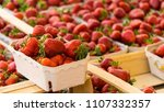 a portion box of fresh juicy... | Shutterstock . vector #1107332357