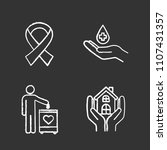 charity chalk icons set.... | Shutterstock .eps vector #1107431357