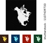 map of north america | Shutterstock .eps vector #1107439733