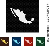map of mexico | Shutterstock .eps vector #1107439757