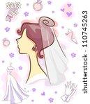 illustration featuring wedding... | Shutterstock .eps vector #110745263
