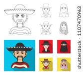 a mexican  a jew  a woman from... | Shutterstock .eps vector #1107470963