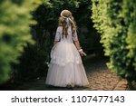 little princess. young girl... | Shutterstock . vector #1107477143