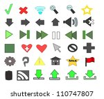 web  media icons with marker...   Shutterstock . vector #110747807