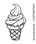 graphic ice cream  vector | Shutterstock .eps vector #1107487967