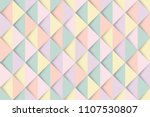 pastel triangles pattern... | Shutterstock .eps vector #1107530807