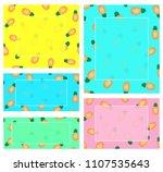 summer banners template  vector ... | Shutterstock .eps vector #1107535643