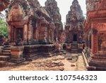 banteay srey   unique temple... | Shutterstock . vector #1107546323
