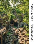 ruins of the ancient temple of... | Shutterstock . vector #1107549557