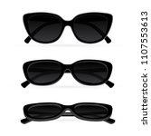 sunglasses. realistic vector...   Shutterstock .eps vector #1107553613