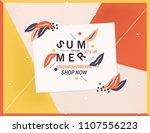 summer sale banner. | Shutterstock .eps vector #1107556223