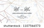 mr. and mrs. signs. wedding... | Shutterstock .eps vector #1107566573