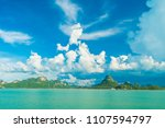 beautiful white cloud on blue... | Shutterstock . vector #1107594797