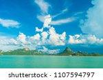 beautiful white cloud on blue... | Shutterstock . vector #1107594797
