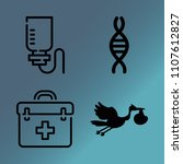 vector icon set about medicine... | Shutterstock .eps vector #1107612827