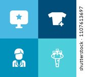 modern  simple vector icon set... | Shutterstock .eps vector #1107613697