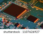 electronic circuit board close... | Shutterstock . vector #1107626927