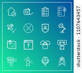modern  simple vector icon set... | Shutterstock .eps vector #1107643457