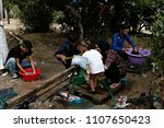 refugees and migrants in a... | Shutterstock . vector #1107650423