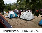 refugees and migrants in a... | Shutterstock . vector #1107651623