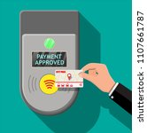 hand holding transport card... | Shutterstock .eps vector #1107661787