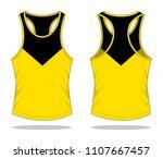 tank tops design   yellow  ...   Shutterstock .eps vector #1107667457