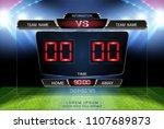 digital timing scoreboard ... | Shutterstock .eps vector #1107689873