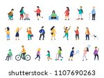 people in various lifestyles ... | Shutterstock . vector #1107690263