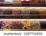 closeup of spices on sale... | Shutterstock . vector #1107716933