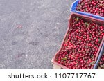 cherries in boxes at street... | Shutterstock . vector #1107717767