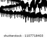 vector dripping paint.paint... | Shutterstock .eps vector #1107718403