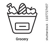 grocery icon vector isolated on ... | Shutterstock .eps vector #1107727457
