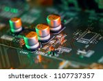electronic circuit board close... | Shutterstock . vector #1107737357