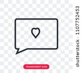 love comment vector icon... | Shutterstock .eps vector #1107752453