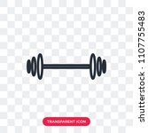 barbell vector icon isolated on ... | Shutterstock .eps vector #1107755483