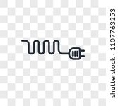 wire vector icon isolated on...   Shutterstock .eps vector #1107763253