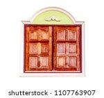 wooden window frame residential ... | Shutterstock . vector #1107763907