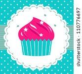 Retro Party Cupcake Template