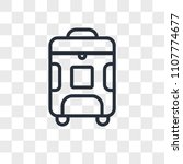 luggage vector icon isolated on ... | Shutterstock .eps vector #1107774677