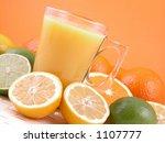 multivitamins natural juice  ... | Shutterstock . vector #1107777