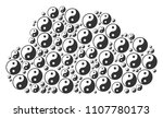cloud composition made with yin ... | Shutterstock .eps vector #1107780173